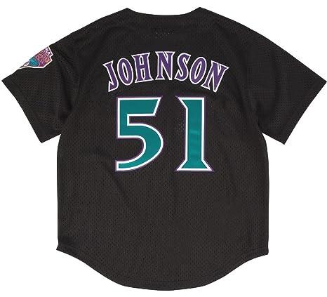 54a347e8 Amazon.com : Mitchell & Ness Randy Johnson Black Arizona Diamondbacks  Authentic Mesh Batting Practice Jersey : Clothing