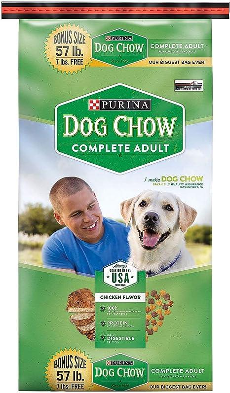 Amazon Com Purina Dog Chow Complete Adult Dog Food 57 Lb Pet