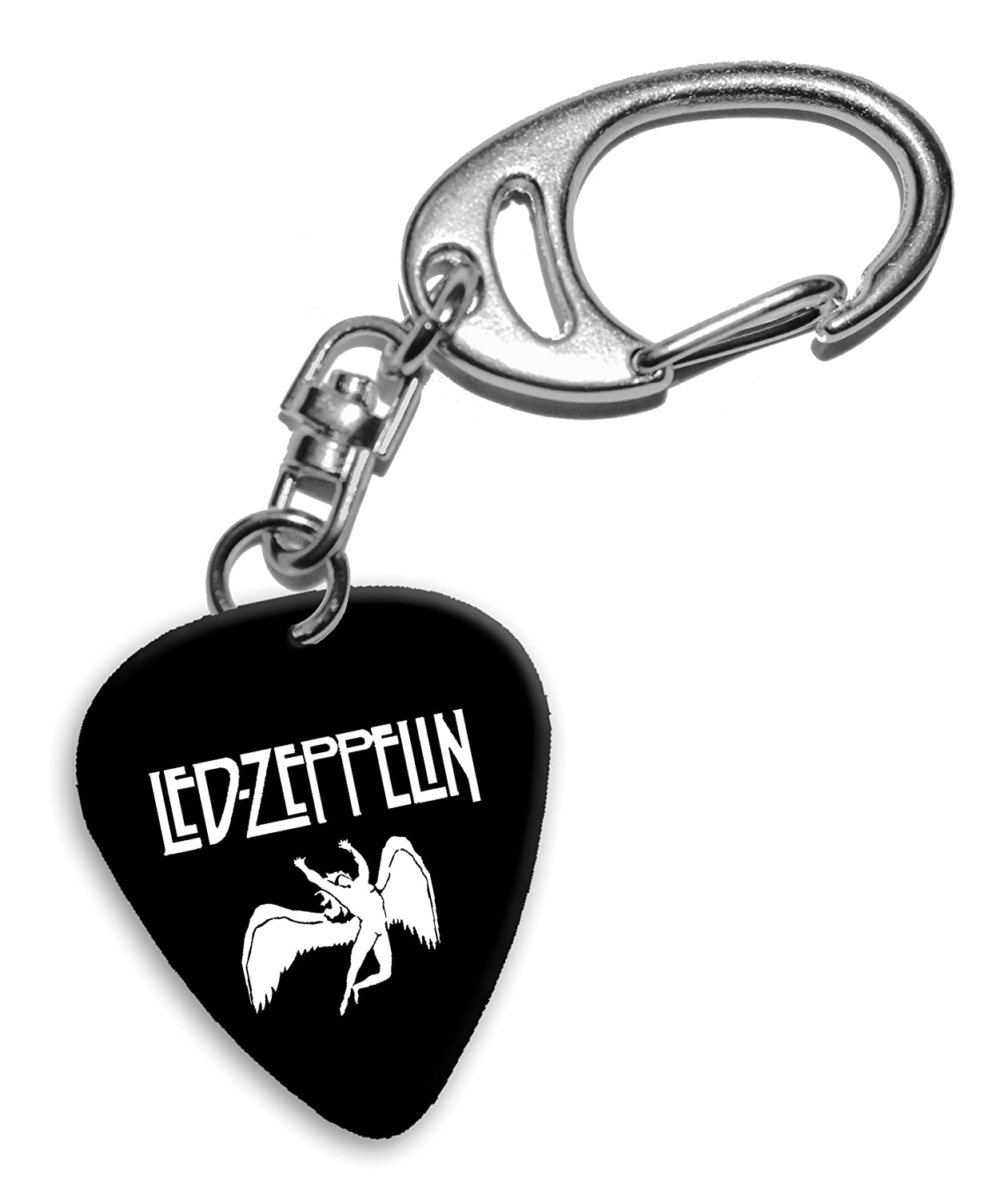 Led Zeppelin Band Logo Portachiavi plettro chitarra (H) We Love Guitars