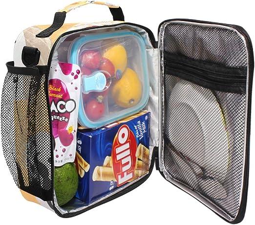QMIN Bolsa de almuerzo japonesa para mujer t/érmica reutilizable con cremallera con correa para el hombro aislante
