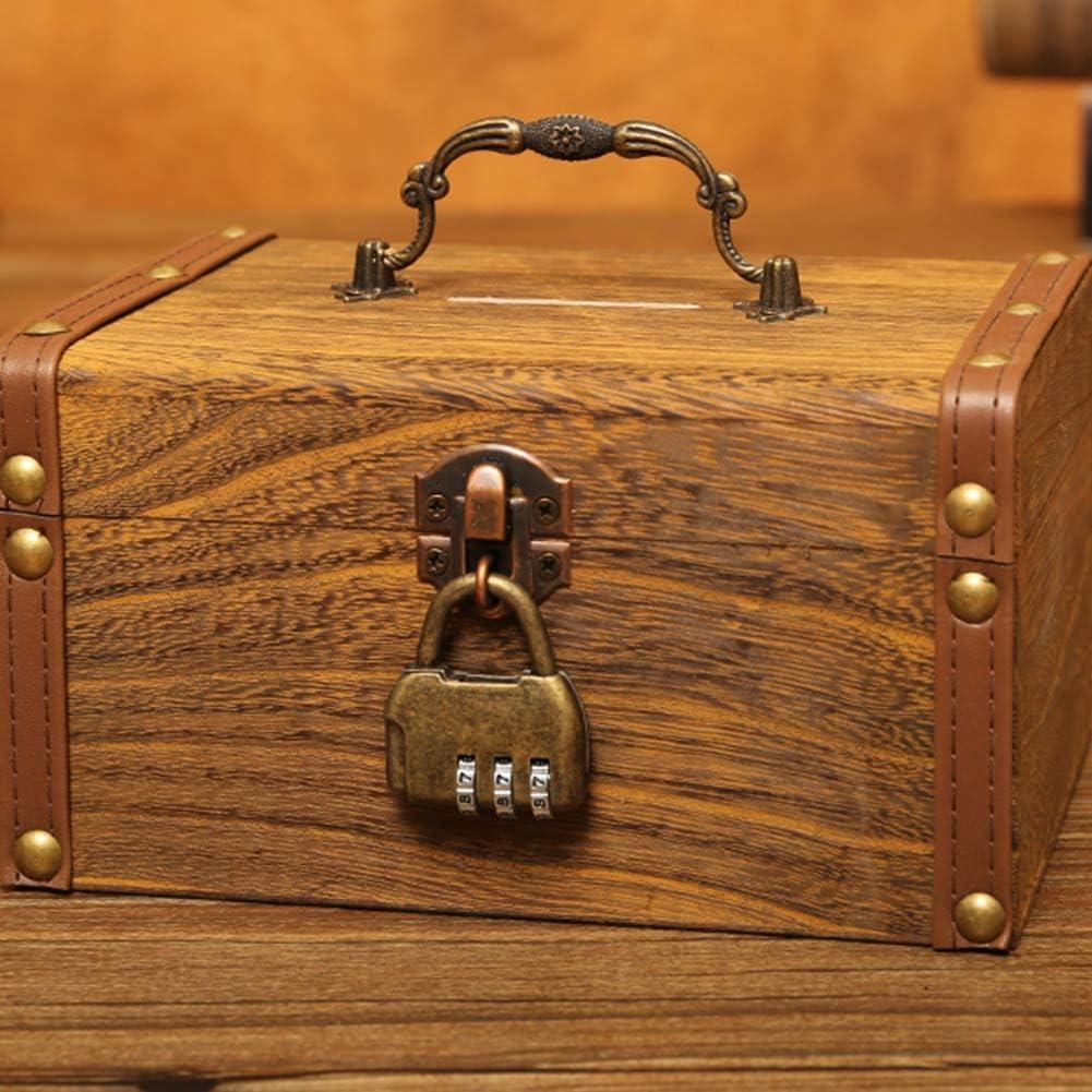 Money Box Safe Coins Cash Square Saving Pot Piggy Bank Combination Lock Durable and Practical