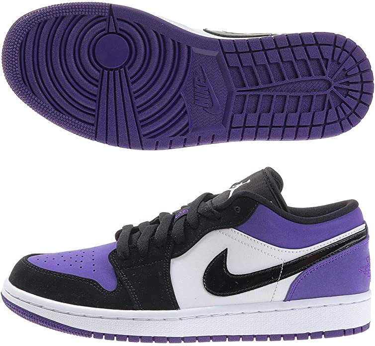 Politico Breaking Dawn rubare  Jordan Air 1 Low (White/Black-Court Purple 9): Amazon.it: Scarpe e borse