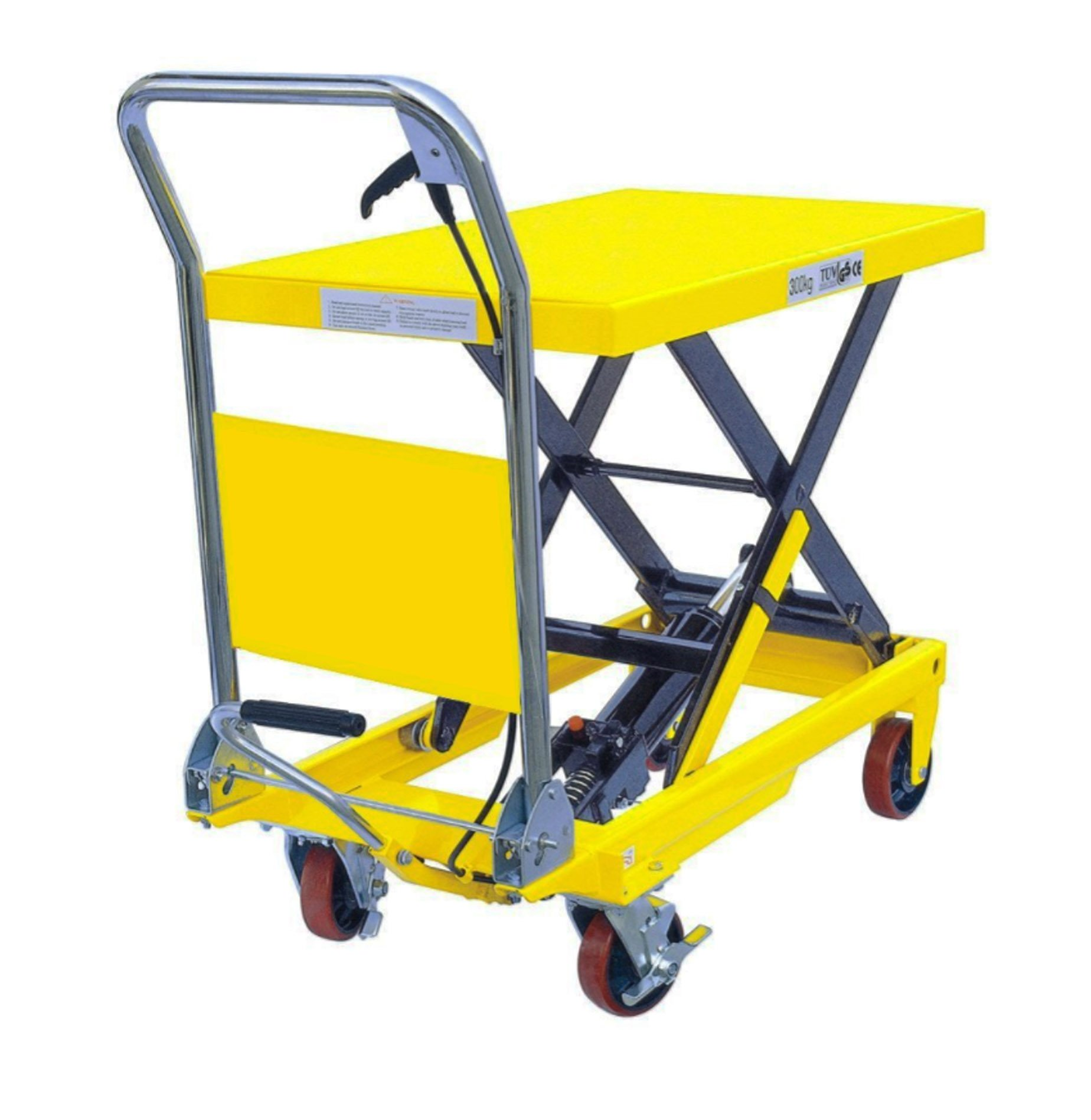 XILIN XSP500 Hydraulic Scissor Lift Table Truck, Yellow, 1100 lb. Capacity