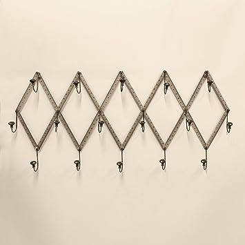 Amazon Gun Metal Silver Wall Mounted Coat Rack Home Kitchen Delectable Silver Wall Coat Rack