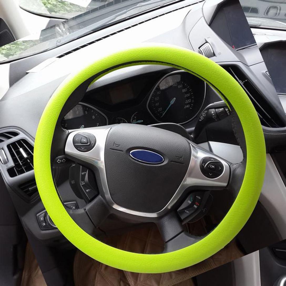 Upxiang Car Steering Wheel Cover Anti Rutsch Silikon Auto Lenkrad Abdeckungs Auto hohe elastische Silikon Lenkrad Abdeckungs Auto Beschaffenheits Dekoration Braun