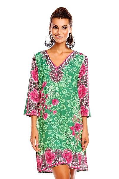 6376b29daaa Femmes Looking Glam Imprimé Tribal Tunique Caftan Haut Été Robe Midi -  Taille 10 - 18