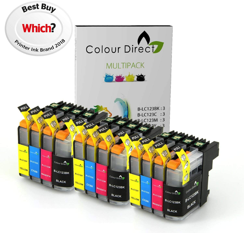 Colour Direct bi-3sLC123 - Juego de 12 Cartuchos de Tinta Grandes ...