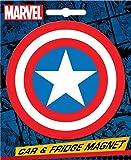 Ata-Boy Marvel Comics Die-Cut Captain America Logo Magnet for Cars, Refrigerators and Lockers