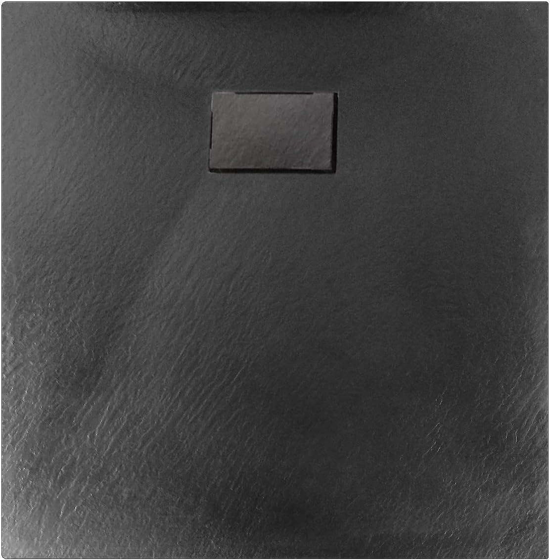 Dimension receveur de douche:80x80cm Receveur de douche noir s/érie GT en SMC Bonde et syst/ème d /évacuation:Sans syst/ème d/évacuation accessoires s/électionnables largeur 80cm