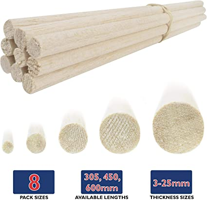 Amazon Com Wws Balsa Wood Dowel 13mm 1 2 Diameter 305mm 12 Long 9 Pack Model Making Craft Aircraft Ship Modelling Toys Games