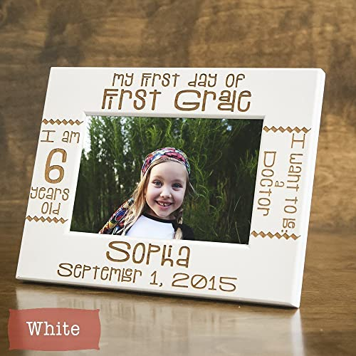 Amazon.com: First Day of School Frame - Personalized First Day of ...