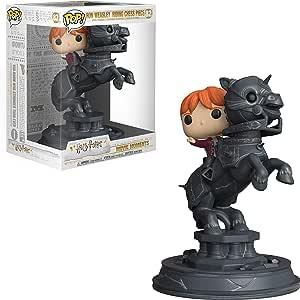 Funko- Pop Vinyl: Movie Moments: Harry Potter S5: Ron Riding Chess Piece Figura Coleccionable, Multicolor, única (35518)