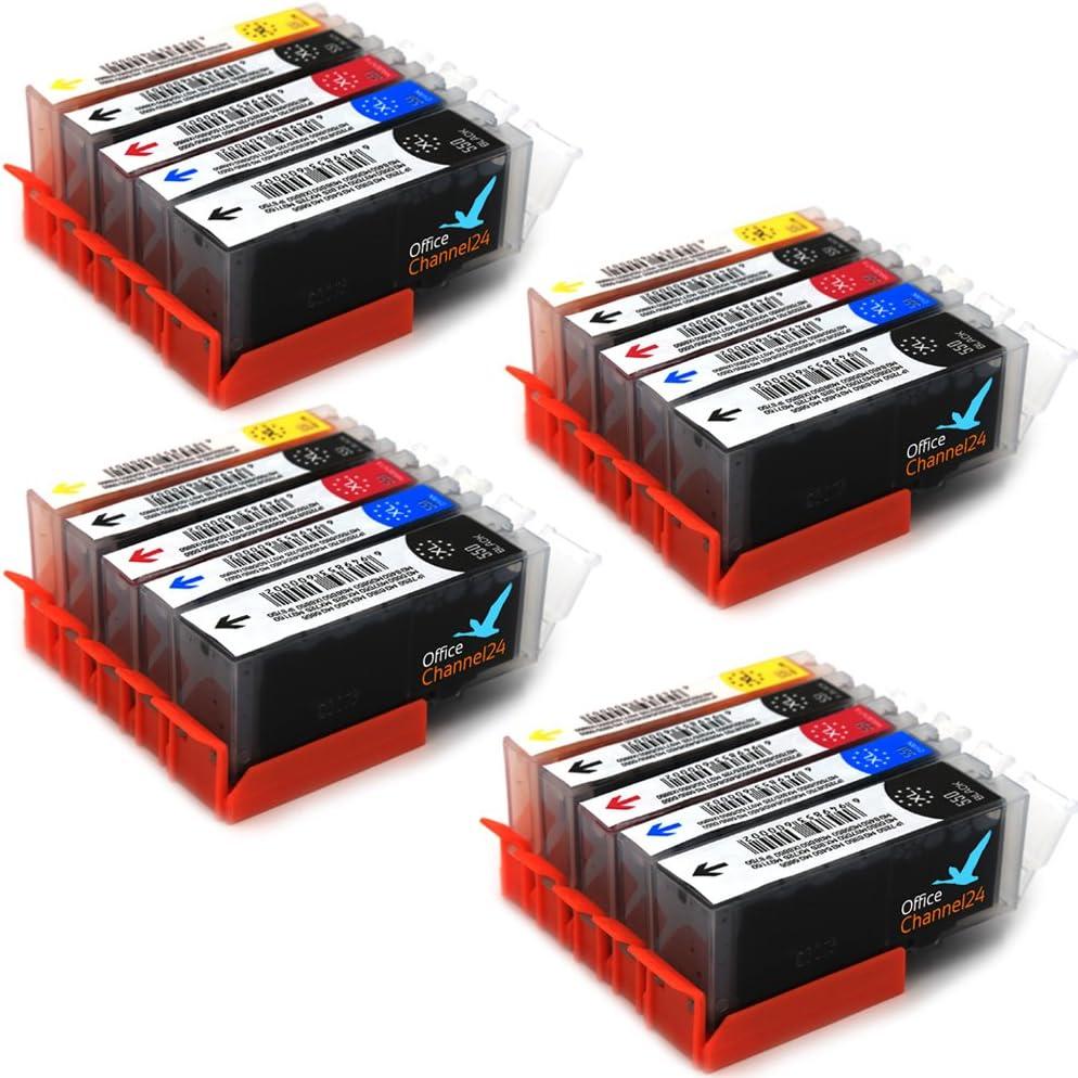 20 cartuchos de tinta compatibles con impresora PGI 550XL CLI ...