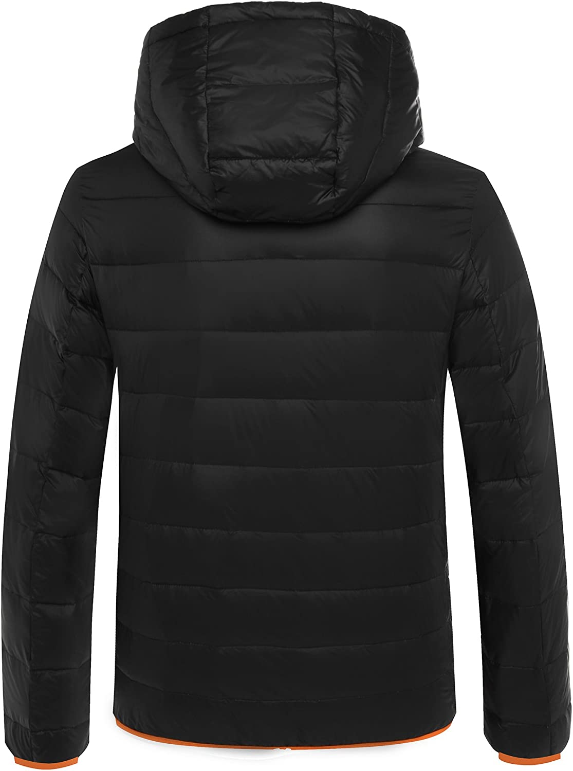 Cordless Mens Lightweight Packable Heated Jacket with 5000mAh Power Bank Battery for Winter Outdoor Wear