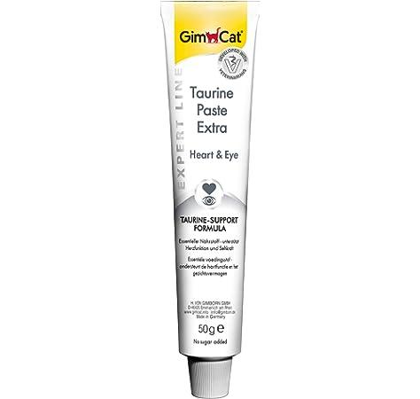 GimCat EXPERT LINE Taurine Extra, pasta - Snack para gatos funcional que favorece la función cardíaca y la vista - 1 tubo (1 x 50 g): Amazon.es: Productos para mascotas