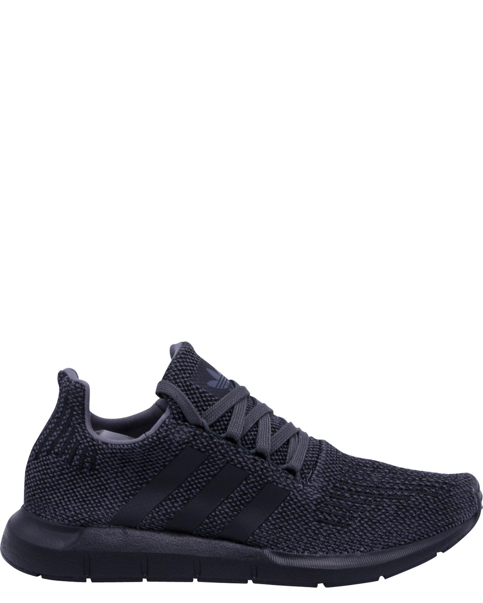 adidas Originals Kids Boy's Swift Run (Big Kid) Grey/Black/Black 5.5 M US Big Kid