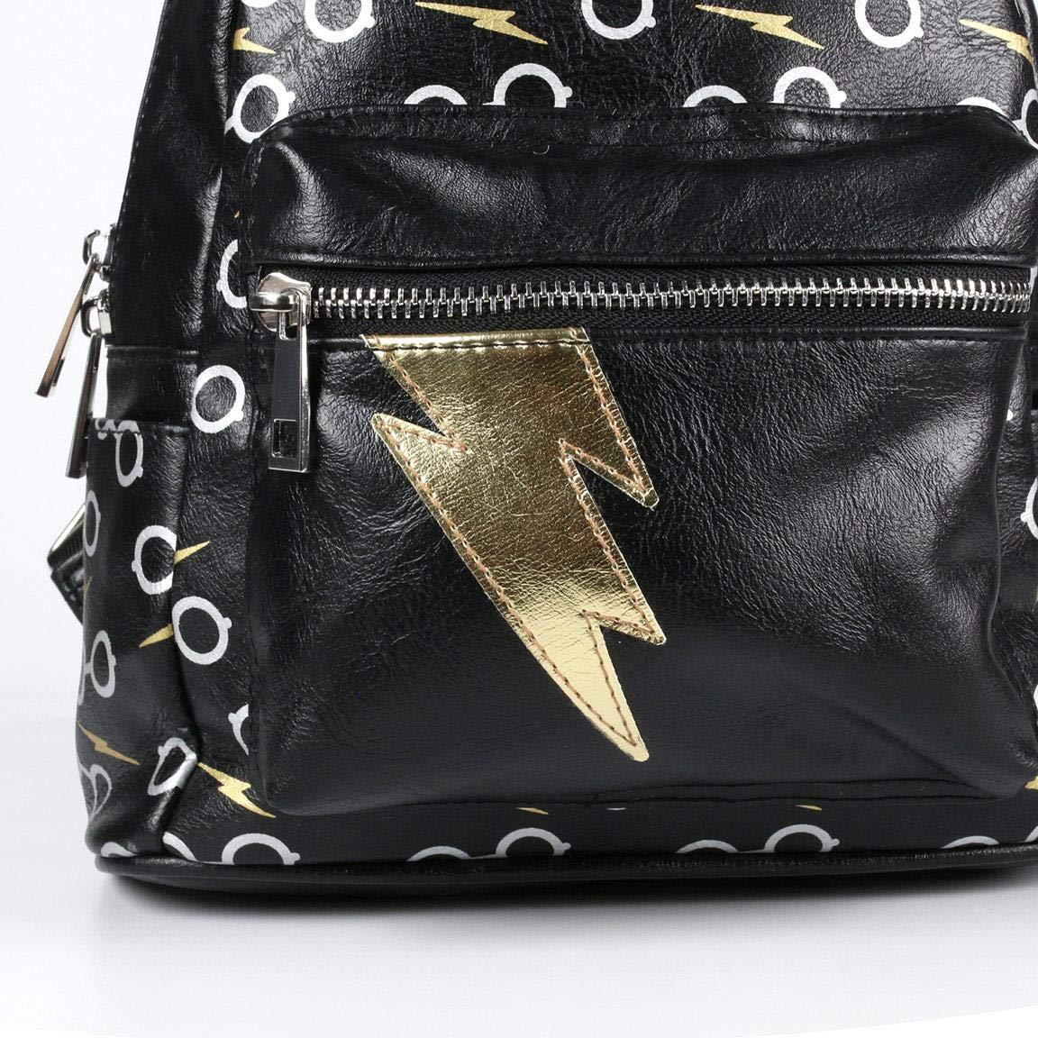 Mochila Mujer Inspirada en Harry Potter/ Bolso Estilo Casual con Licencia Oficial/Bolso Mochila de Moda 25cm, Medidas 25 x 22 x 11,5 cm Color Negro: ...