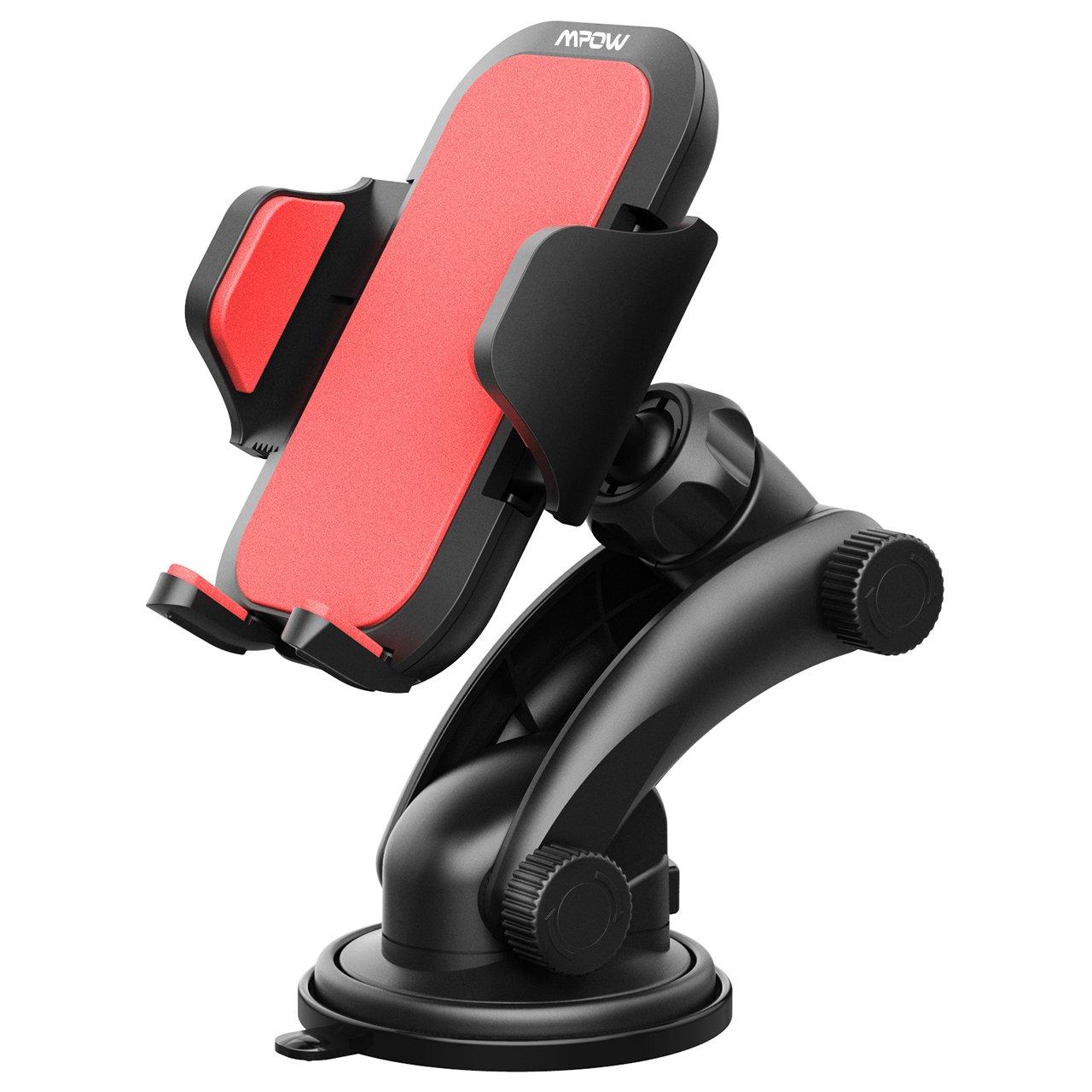 Mpow Soporte Moví l Coche para Salpicadero/Parabrisas, Soporte de Mó vil para Coche, para iPhone X/Xs/8/8P/7/6, Samsung S9/S8, Huawei y ect. Soporte de Móvil para Coche MPCA060AR