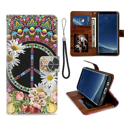Amazon.com: Samsung Galaxy S8 Funda Cartera Autumn Maple ...
