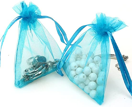 50 Pieces Multi-Colored Organza Gift Bags Wedding Party Favor Bags Jewel 2X
