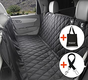 Dog Seat Cover For Cars With Seatbelt Leash And Storage Bag