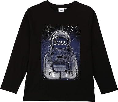 BOSS Hugo - Camiseta de Manga Larga con diseño de Astronauta y ...