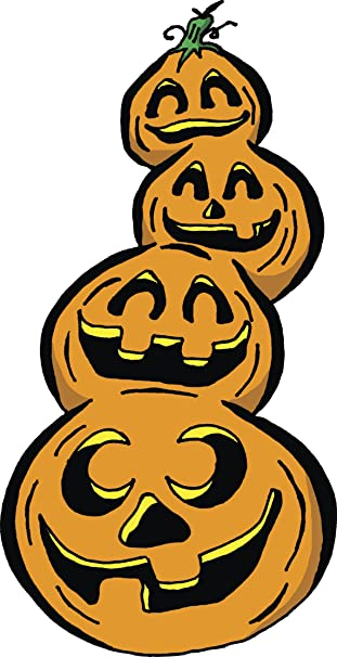 Amazon.com Stack Of Halloween Jack O Lantern Pumpkins