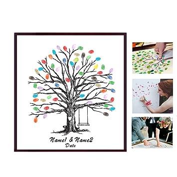 Poitemsis Fingerabdruck Familienmitglieder Baum Leinwand Daumenprint