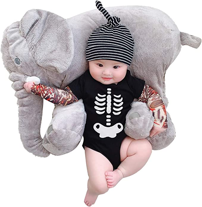 YHXG Toddler Baby Boy Girl Onesie Bodysuit Tattoo Sleeve Romper Jumpsuit Halloween Costume Outfit