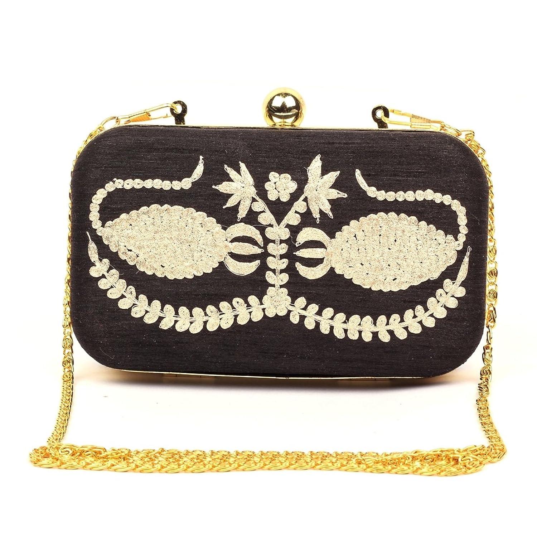 Masked Scorpio - Black Stylish Handmade Box Clutch