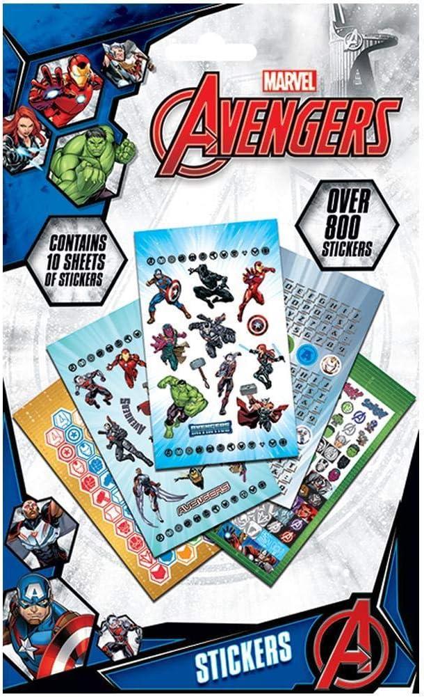 Avengers Los Vengadores - Pack de 800 pegatinas (Talla Única ...