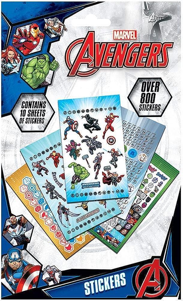 Avengers Los Vengadores - Pack de 800 pegatinas (Talla Única/Multicolor): Amazon.es: Ropa y accesorios