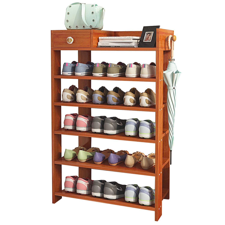 Amazon Jerry & Maggie 5 Tier Wood MDF Board Shoe Rack Shelf