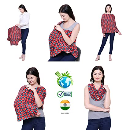 434d94de82e8e Buy Feather Hug 360° Nursing Cover for Breastfeeding Mother, Women, Mom,  Preemie Baby Maternity Multi Use, Feeding Cloak, (Ilkal) Online at Low  Prices in ...