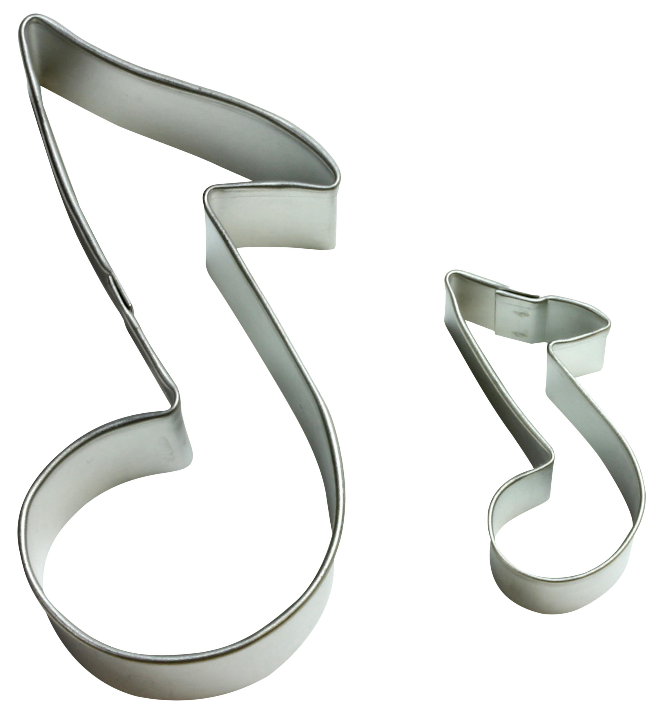 Cybrtrayd 000RM1356-1556 R&M Parent/Child Cookie Cutter Set, 3.5-Inch and 1 to 1.5-Inch, Music Note, Tin