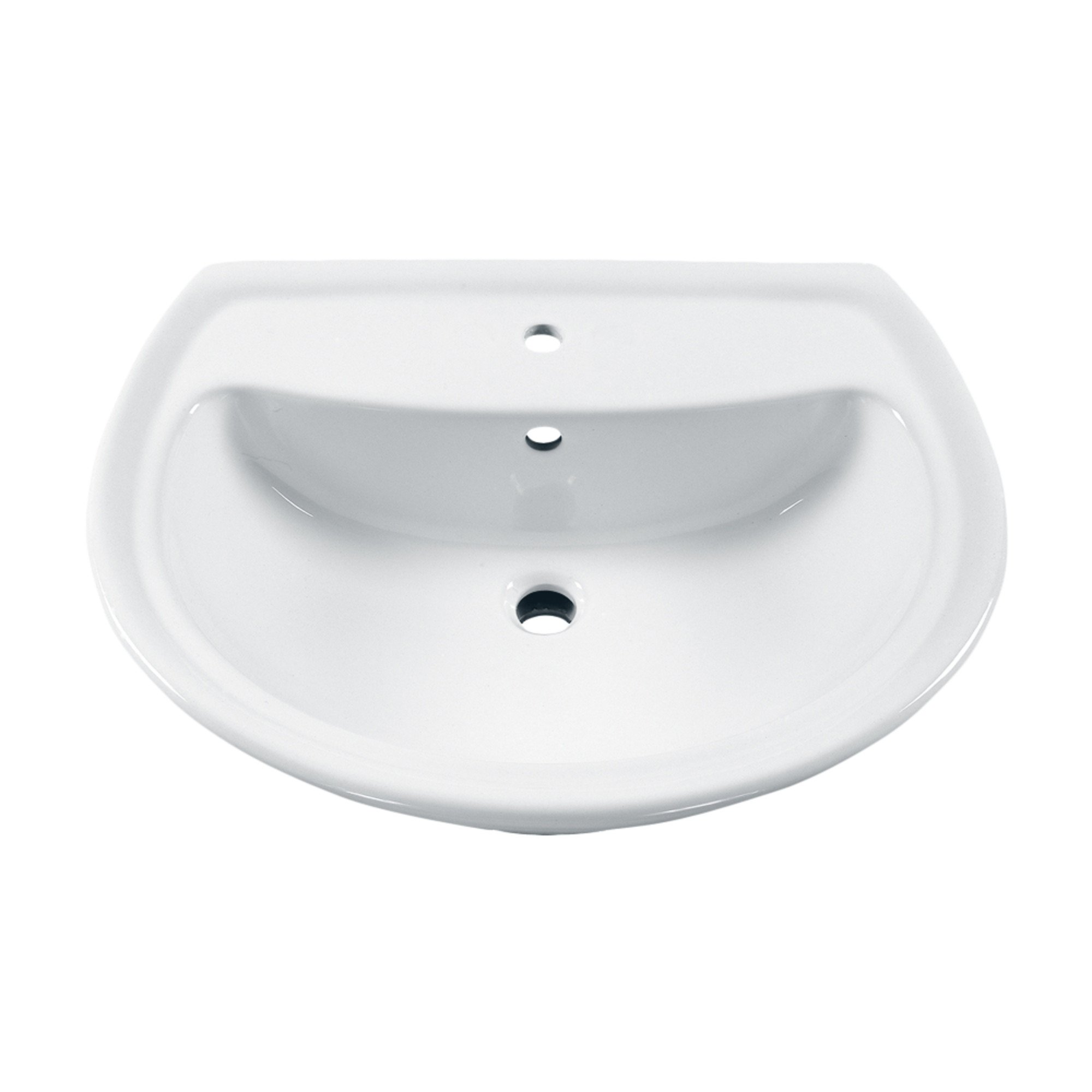 American Standard 0236.001.020 Cadet Pedestal Sink Basin with Center Faucet Hole Only, White by American Standard