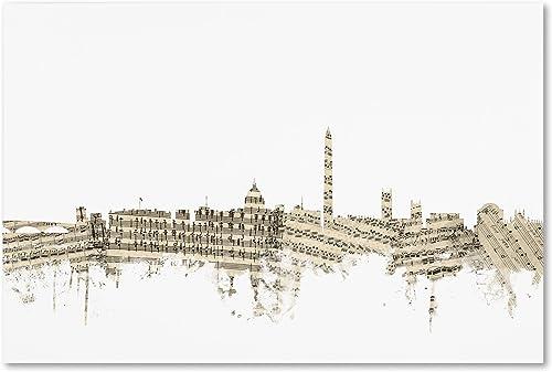 Washington DC Skyline Sheet Music II