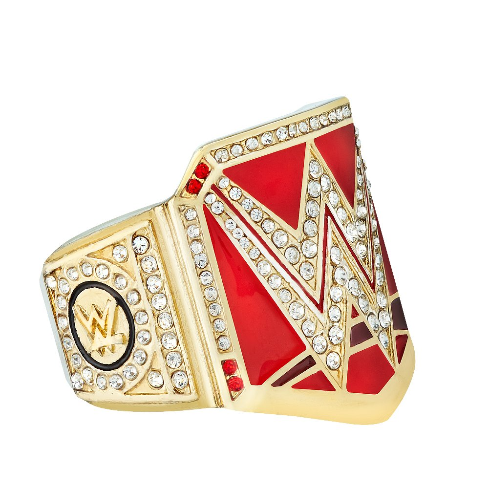 WWE Authentic Wear WWE RAWレディースChampionship指リングゴールド/レッド