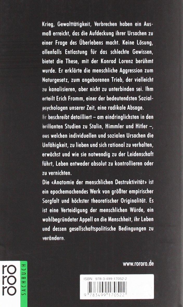 Anatomie der menschlichen Destruktivität: Amazon.de: Erich Fromm ...