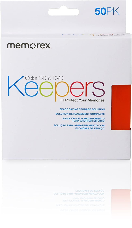 50 Pack Memorex CD//DVD Keepers Plastic Sleeves