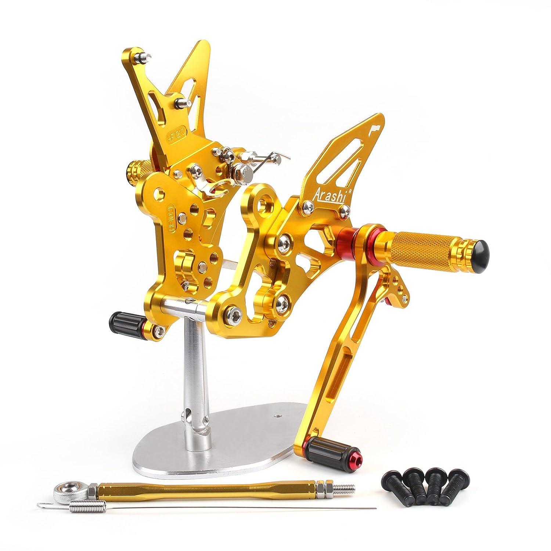 Artudatech(アキューダテク) バイクオートバイ用 バックステップキット Suzukiスズキ GSX-S750 GSR750 用 ゴールド  ゴールド B07JB24VQF
