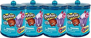 Shopkins Food Fair Set of 4 2-Pack Canisters