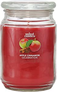 Candle Universe Jar Candle | Scented Holiday Candles | Made in USA | Highly Fragranced 18 oz - Apple Cinnamon Celebration