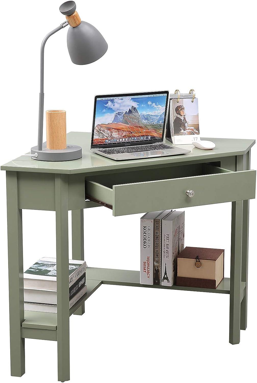 "Corner Desk, 66"" × 66"" Home Office Computer Table"