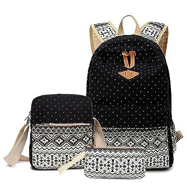 HITOP Cute Backpack for Teen Girls, Teens School Bookbag Bag Set, Laptop Bag  Shoulder 5b20db7f13