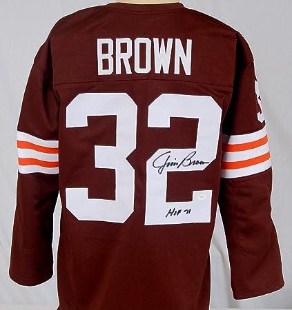 193477417ad Jim Brown Signed Jersey w   quot HOF 71 quot  - JSA Certified - Autographed