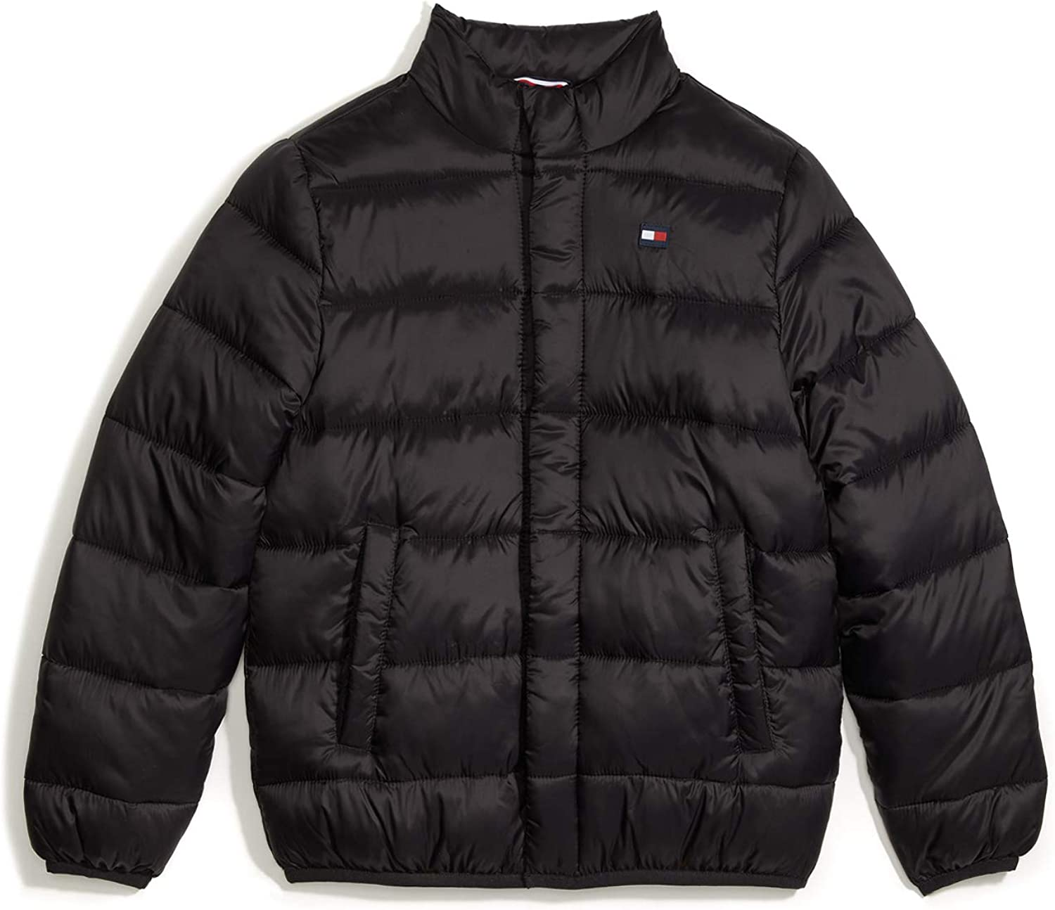Tommy Hilfiger Boys Adaptive Light Weight Down Puffer Jacket with Magnetic Buttons