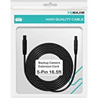 5 Pin Backup Camera Extension Cable,5 Pin 16.5 Ft Extension Cord for Dash Cam 5 Pin Camera Cable for Reverse Car…