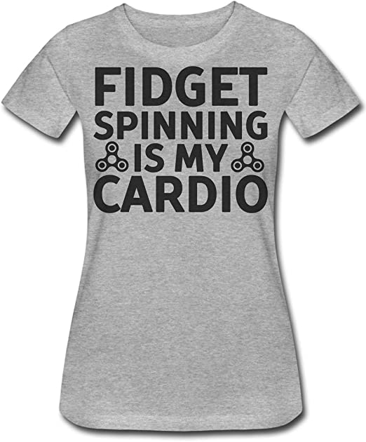 Fidget Spinning Is My Cardio Camiseta para Mujer XX-Large: Amazon.es: Ropa y accesorios
