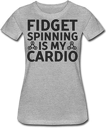 Fidget Spinning Is My Cardio Camiseta de Mujer Womens T-Shirt XX ...